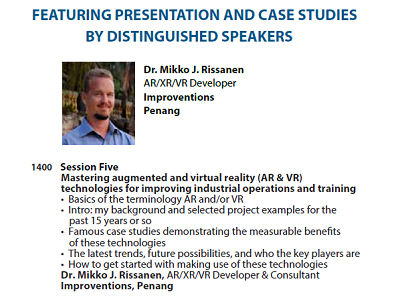 Dr. Mike's speaker profile in a conference