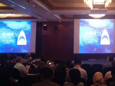 Startup shark tank event in Jakarta, Indonesia